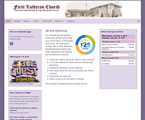 First Lutheran web site